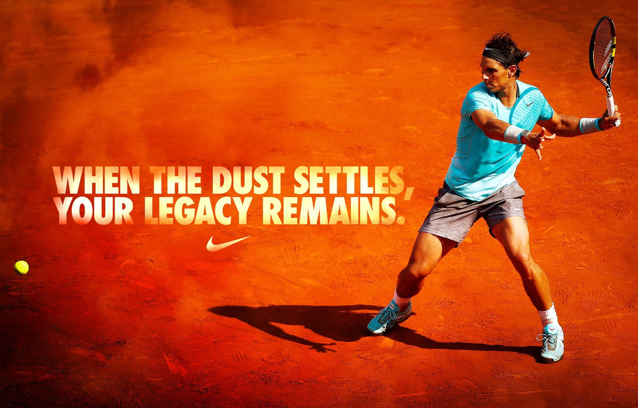 novedad Cadena recuperar  Rafael Nadal Wallpaper Nike posted by Christopher Tremblay