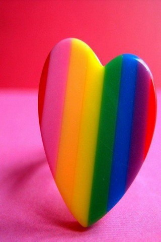 Download Rainbow Heart IPhone Wallpaper Mobile Wallpaper