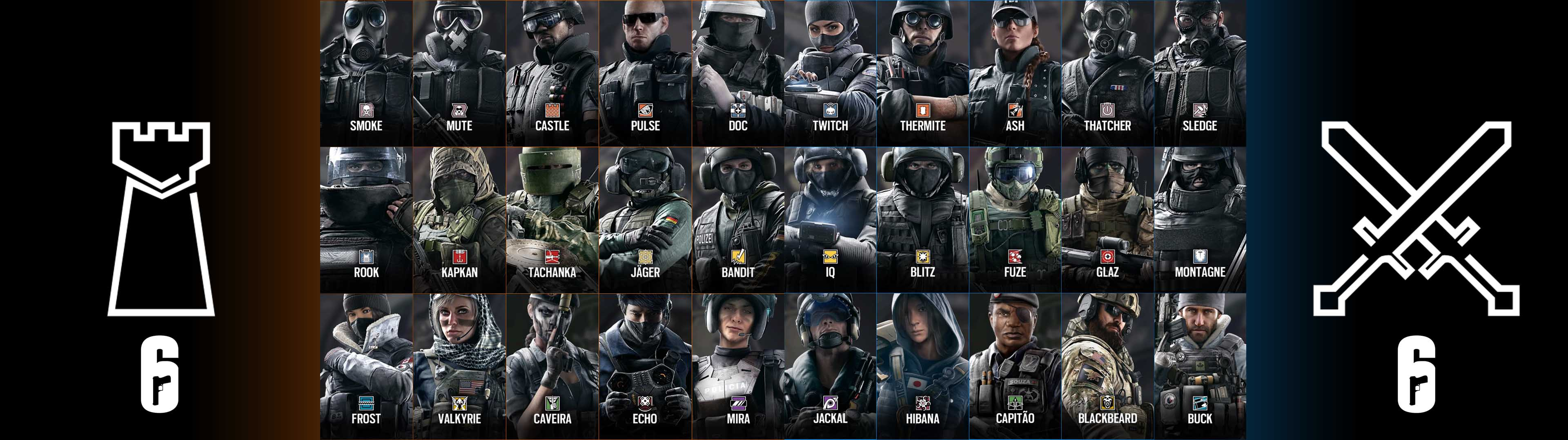 Rainbow Six Siege Operators Wallpaper Posted By Michelle Anderson