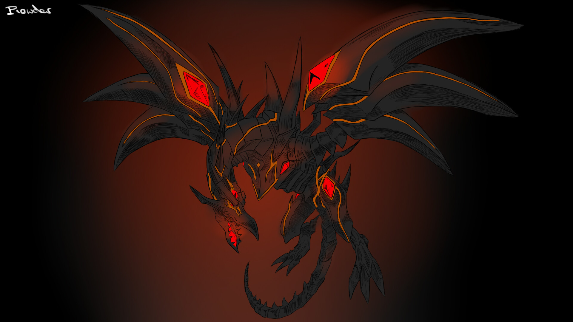 Red And Black Dragon Wallpaper Posted By John Cunningham