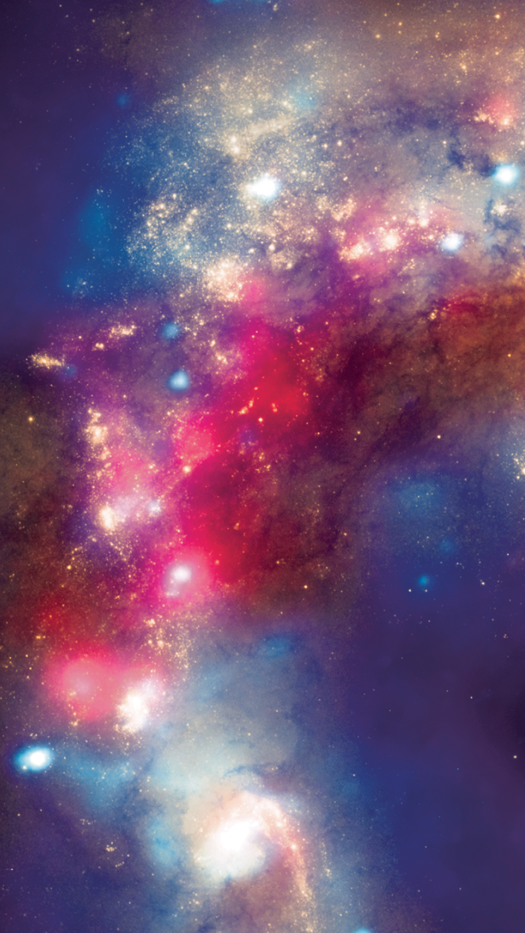 Red And Blue Galaxy Background Posted By John Mercado