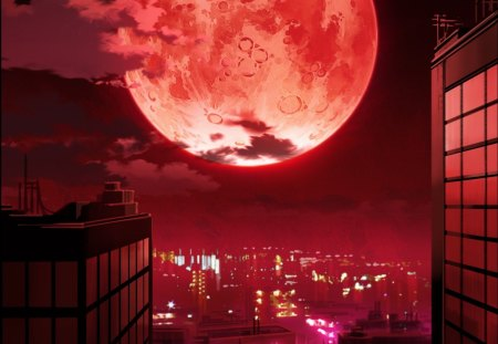 Red Night Other and Anime Background Wallpapers on Desktop