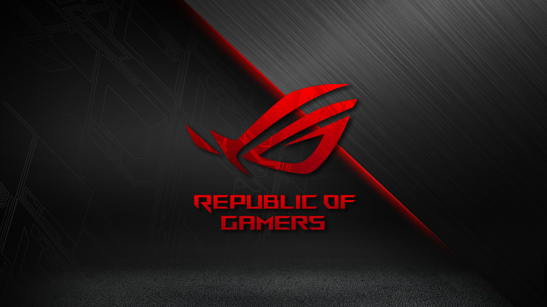 1920x1080 Red And Black Hd Wallpaper Rog