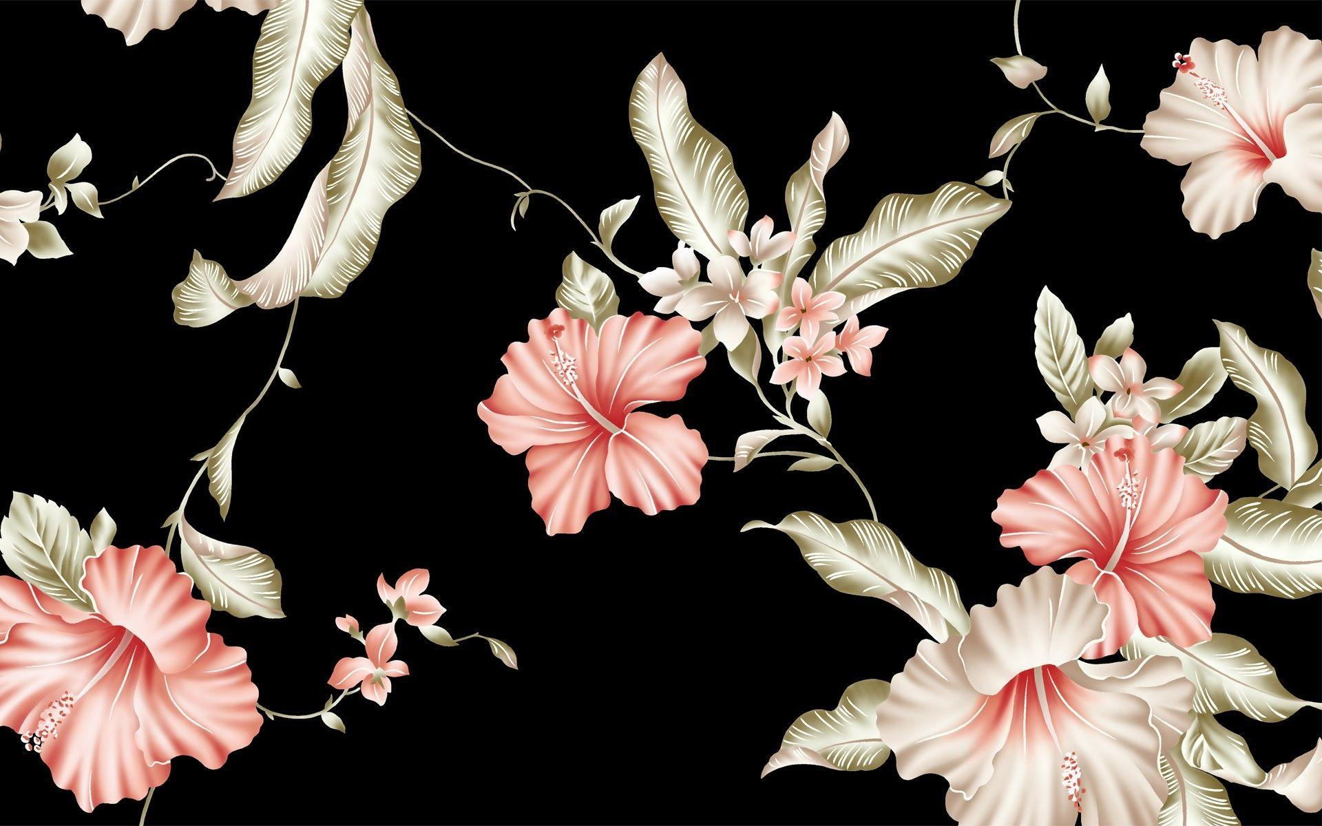 Retro Flower Wallpapers Posted By Samantha Anderson
