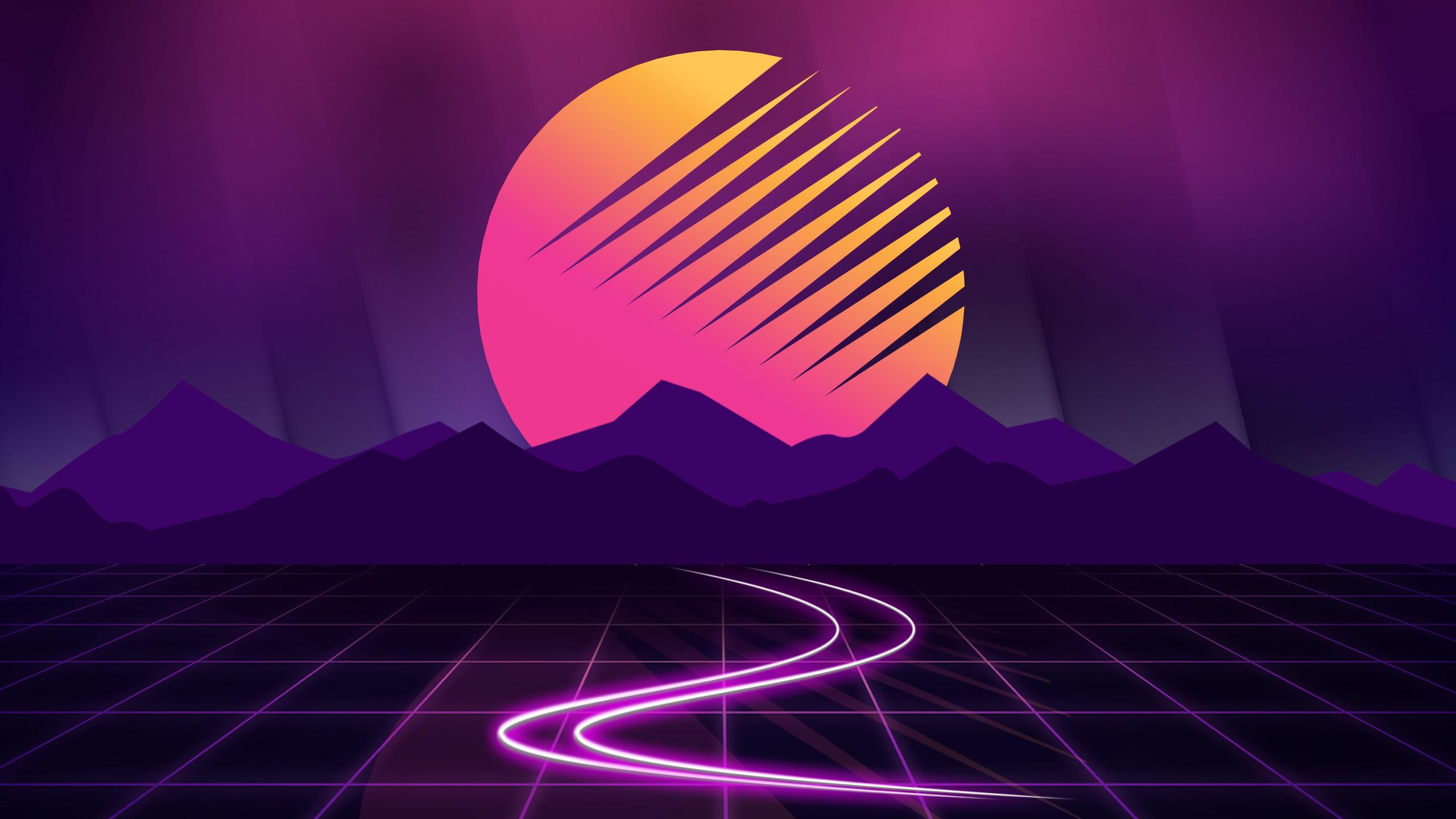 Retrowave Sunset Wallpaper HD Artist 4K Wallpapers Images
