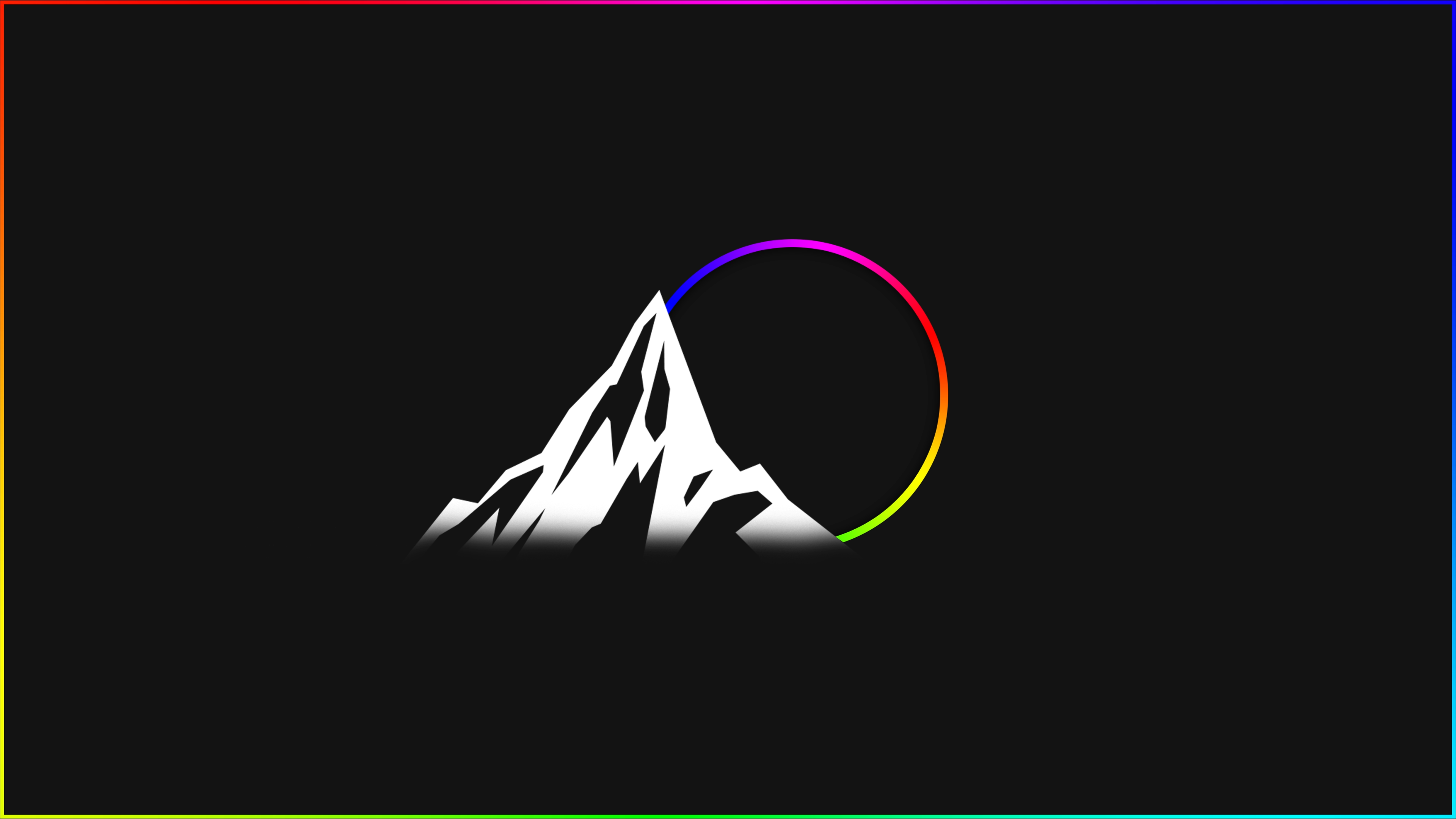 RGB Edge Lit Wallpaper MinimalWallpaper