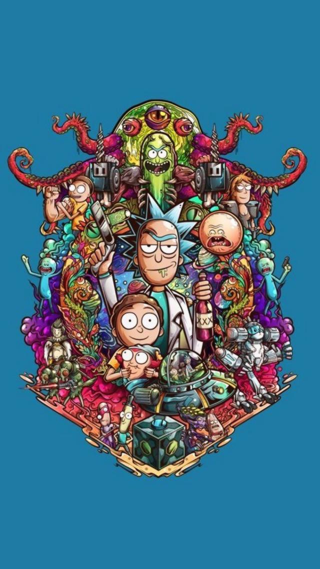 Rick And Morty 2 Monitor Wallpaper