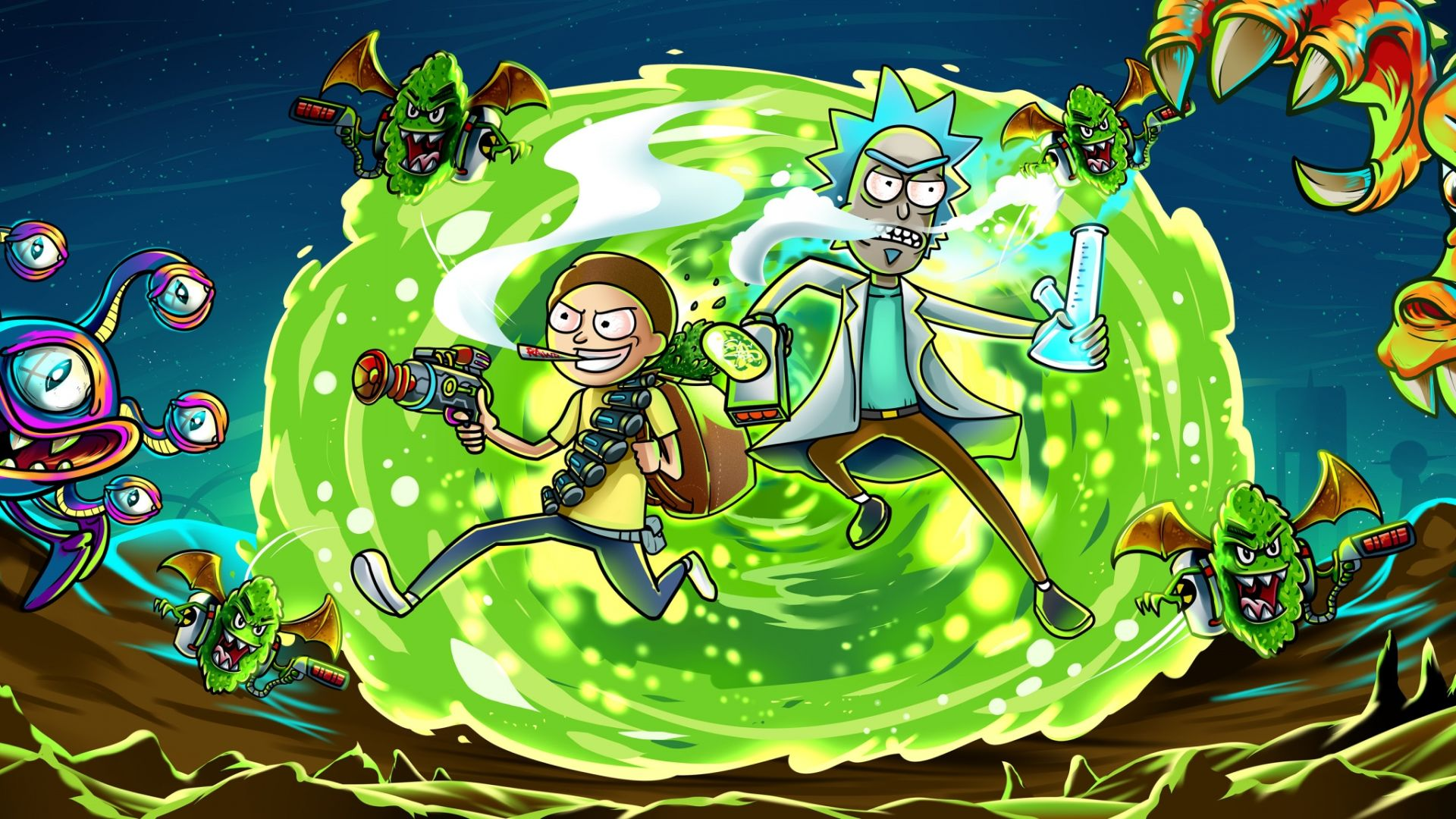 Rick And Morty Laptop Wallpaper Posted By Ryan Thompson