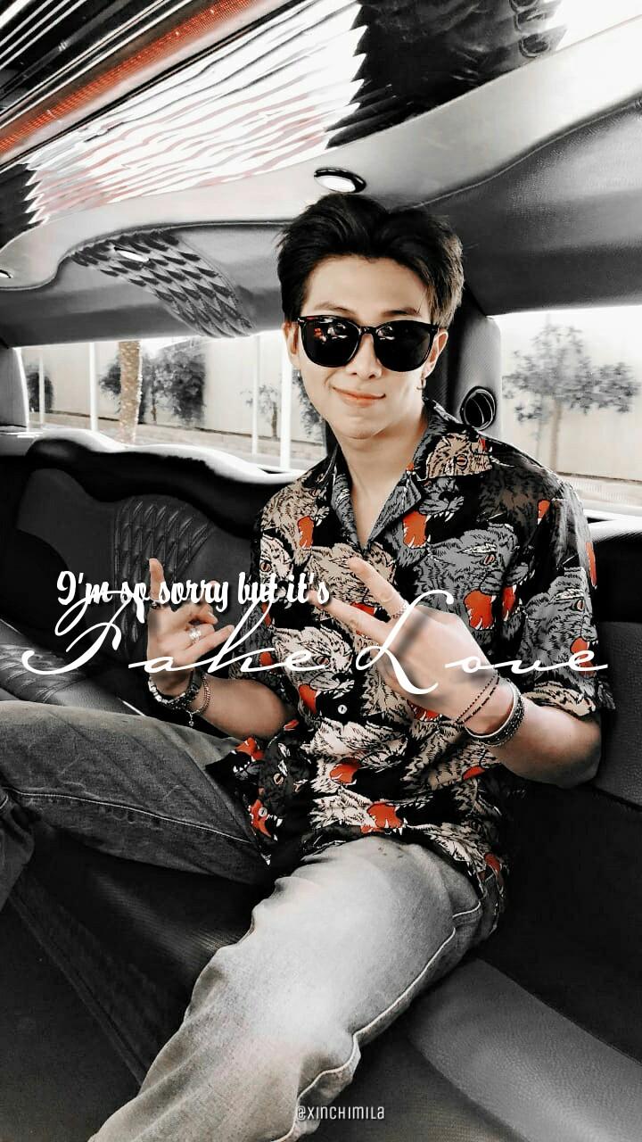 Bts Wallpaper Lock Screen Kim Namjoon Rm On We Heart Kim