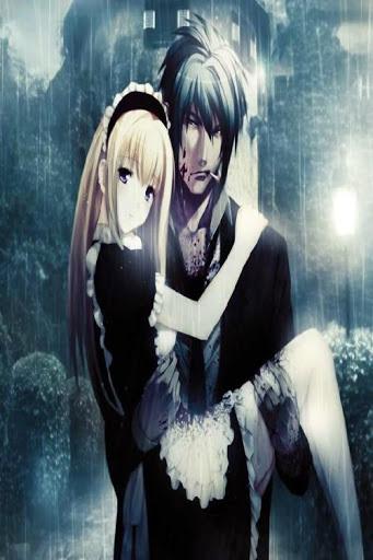 Romantic Anime Couple Wallpaper