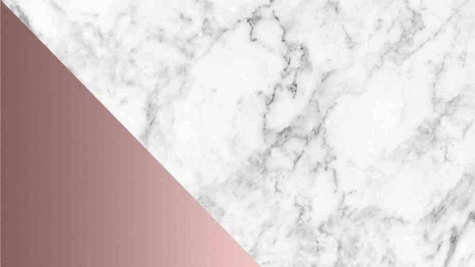Rose Gold Cute Marble Desktop Wallpaper