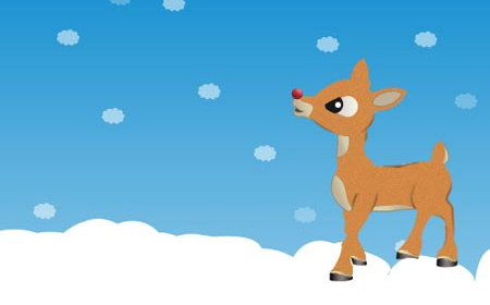 Christmas Wallpaper Rudolph Merry Christmas And Happy New