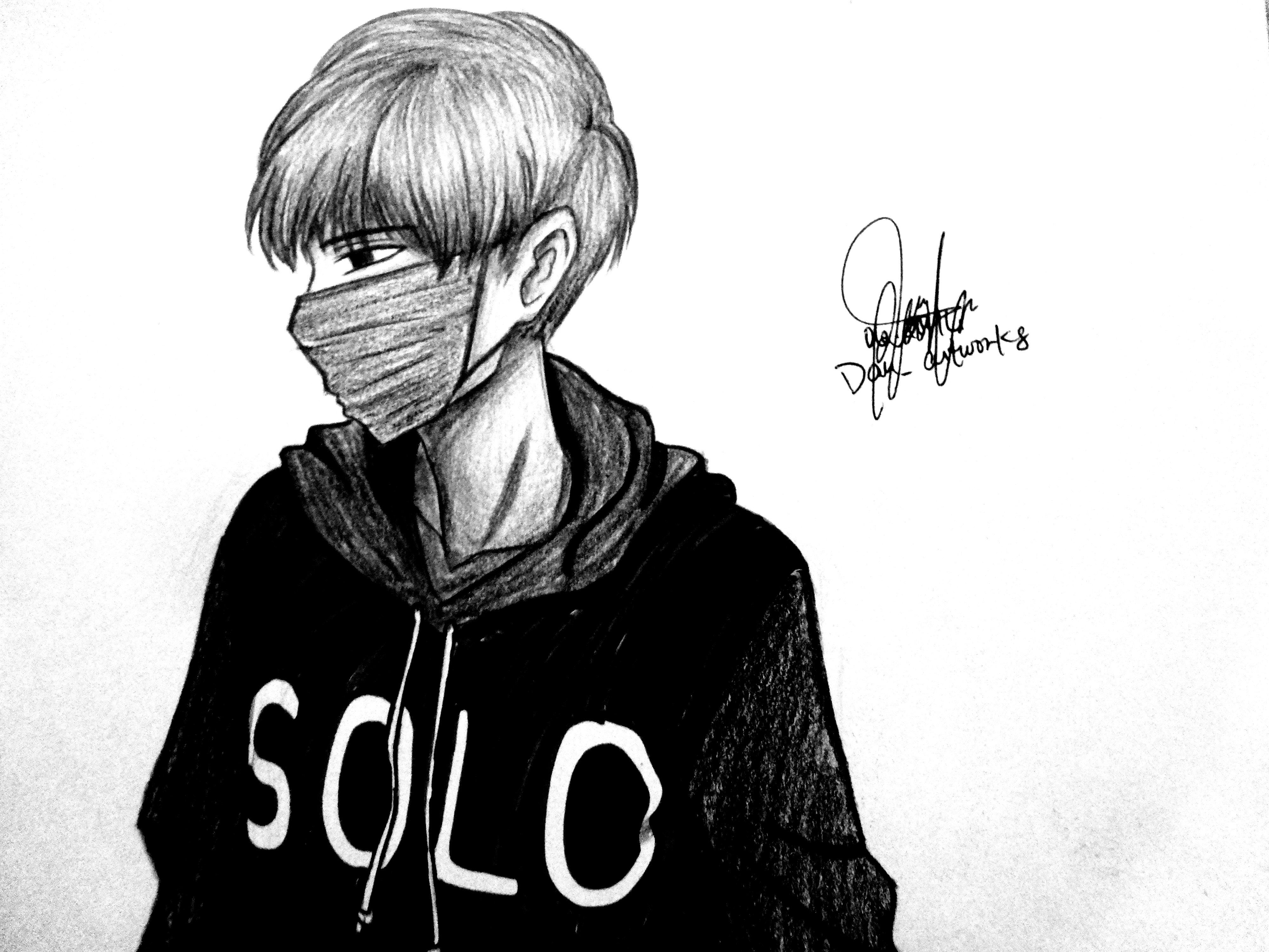 Anime Boy Sad Alone