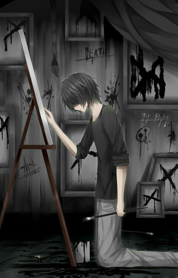 Sad Anime Fanart Sad Boy Free Wallpaper and Backgrounds