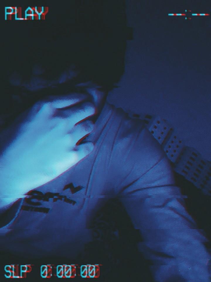 sad boy aesthetic wallpaper blue 3