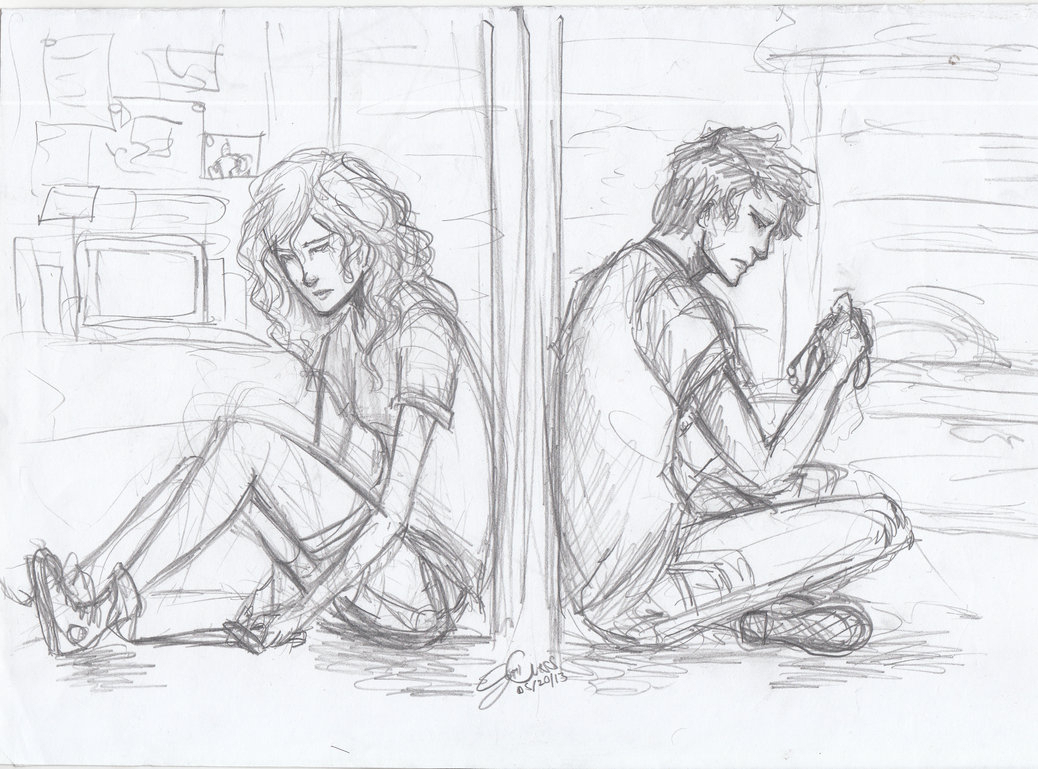 Sad Couple Drawing Posted By Ethan Sellers