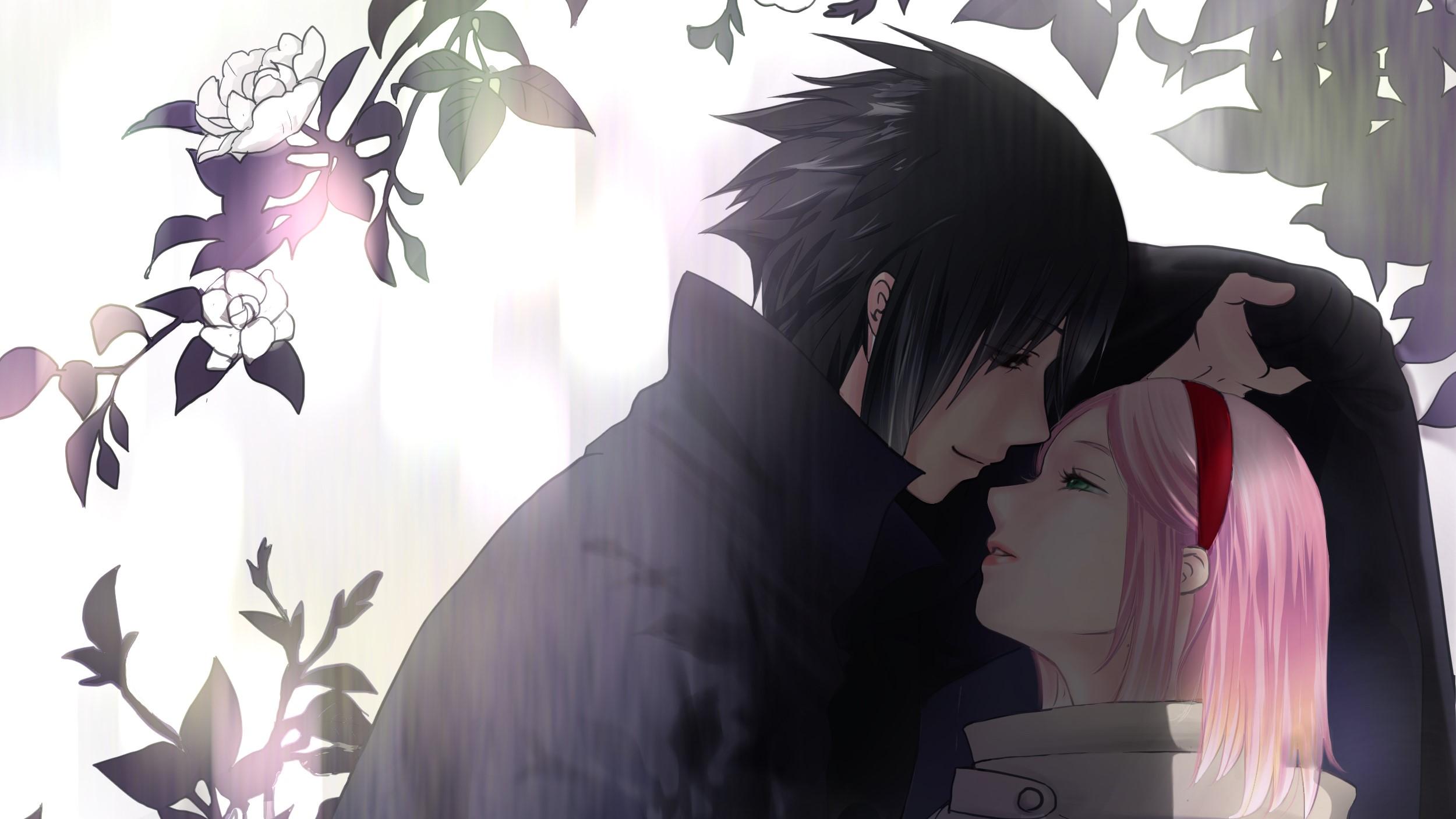 Wallpaper of Anime Naruto Sakura Haruno Sasuke Uchiha
