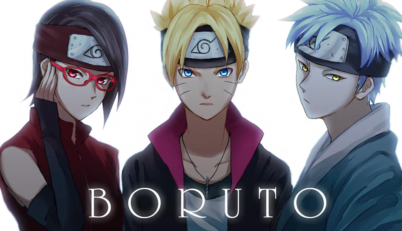 Kagura Borut Wallpaper Naruto Sasuke And Sakura Vs Boruto
