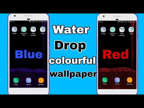 Samsung Galaxy S10 Plus Colorful Water Drop Live Wallpaper