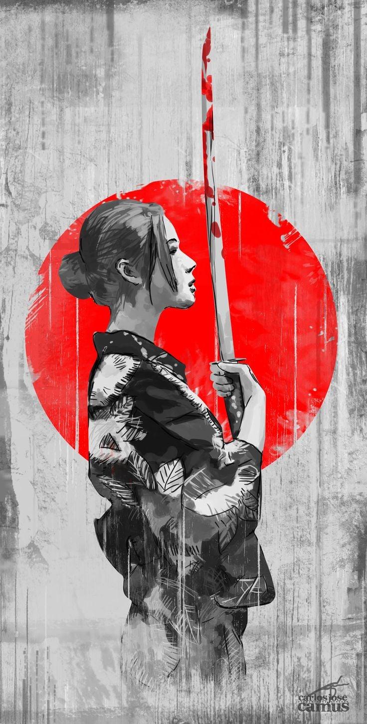 Girl Samurai Hd Copy Wallpapers
