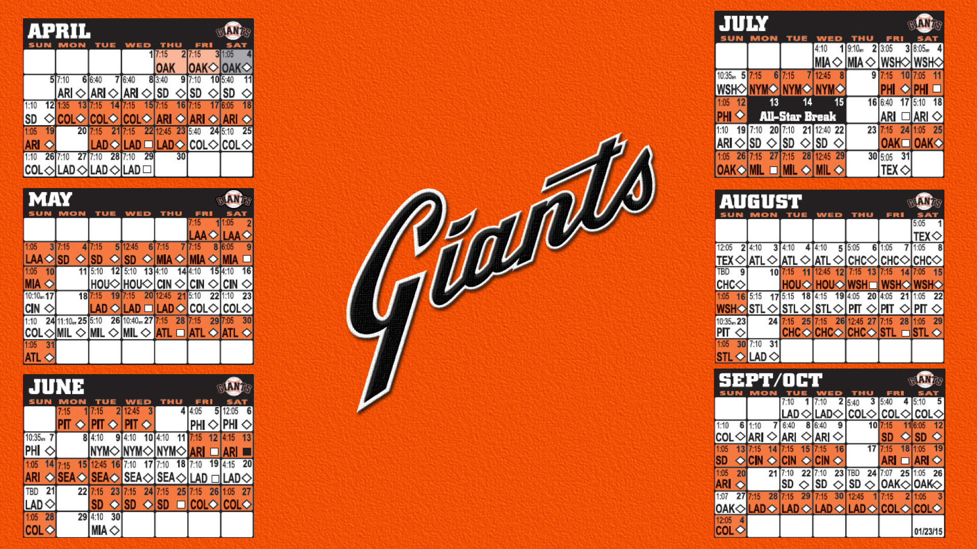 San Francisco Giants Backgrounds Posted By John Sellers