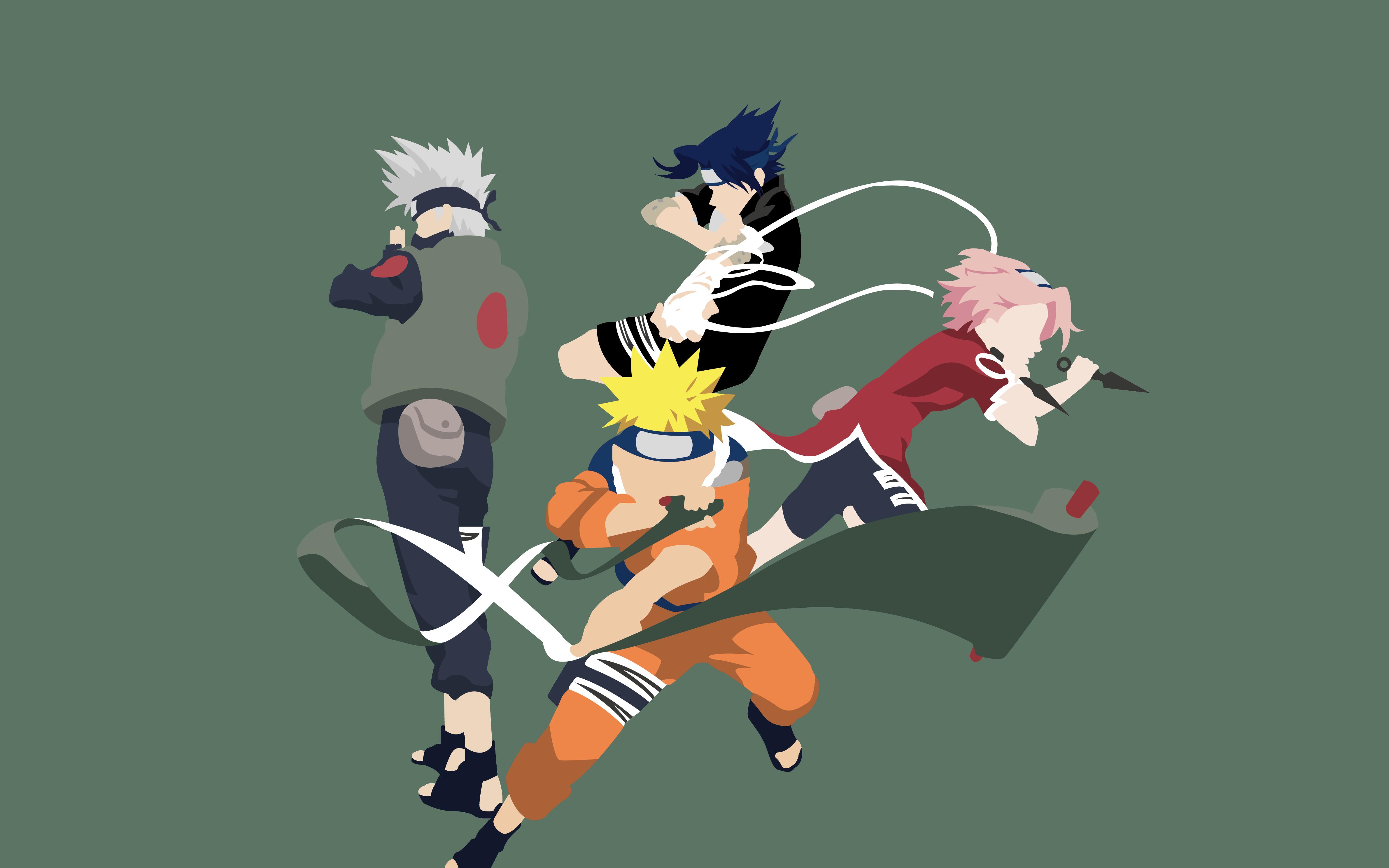 Naruto Uzumaki Sasuke Uchiha Kakashi Hatake Sakura
