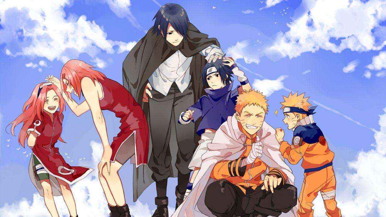 Sasuke Naruto and Sakura Anime series wallpaper 1920x1080