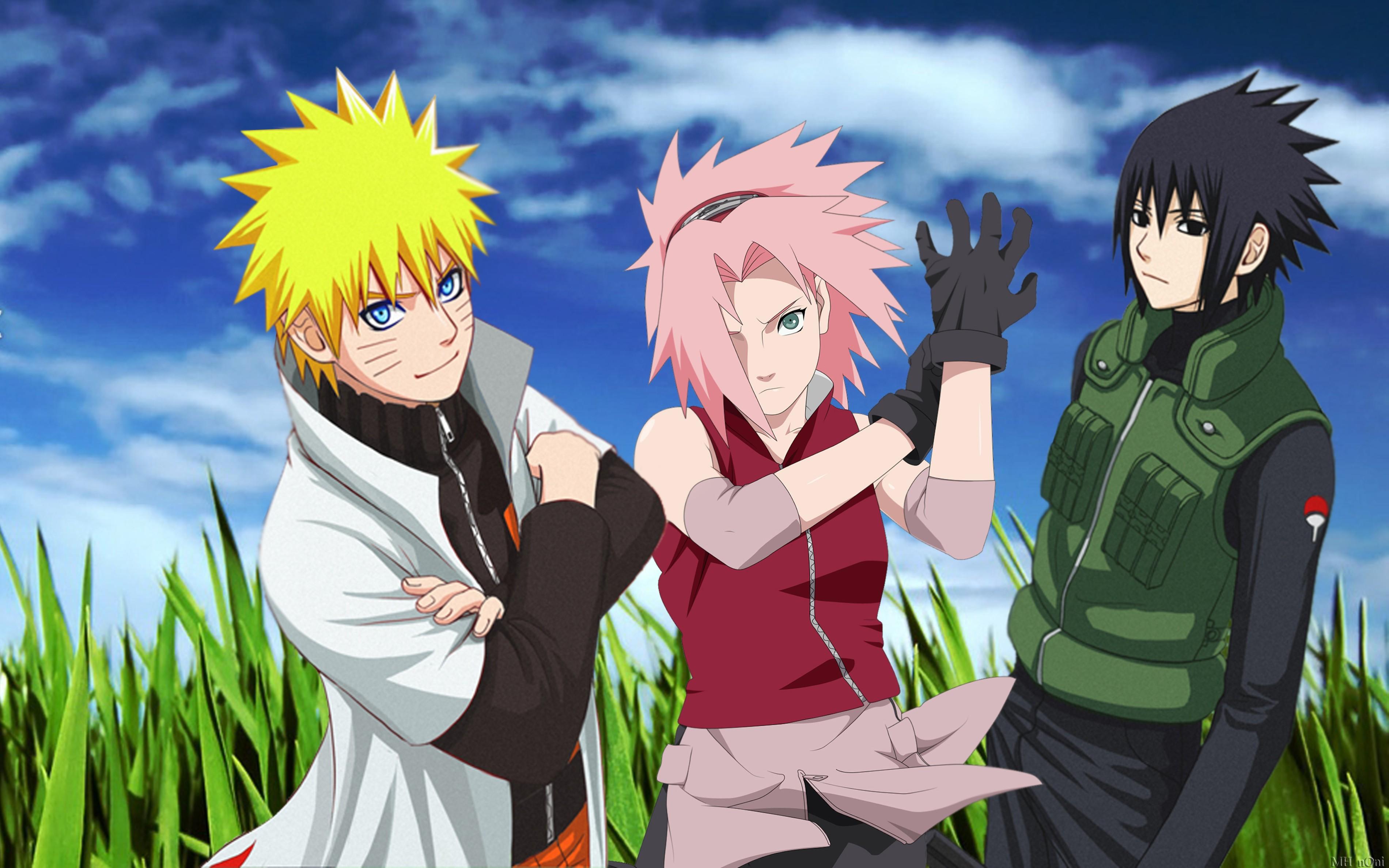 Naruto Uzumaki Sasuke Uchiha Sakura Haruno Wallpaper