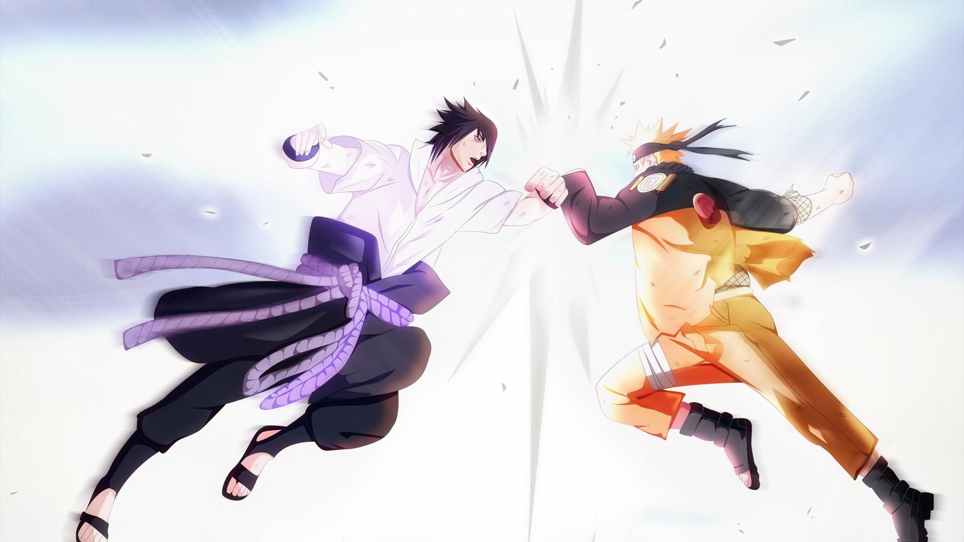 Download 1920x1080 Wallpaper Naruto Uzumaki Sasuke Uchiha