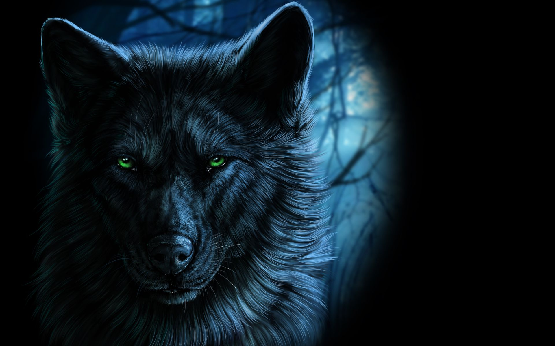 Scary Wolf Wallpaper posted by John ...