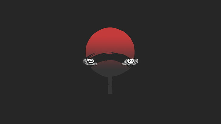 HD wallpaper digital art, eyes, minimalism, Naruto