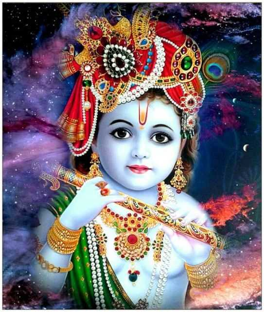 Full, HD, Whatsapp DP Profile Status, Blue, 3D, Krishna