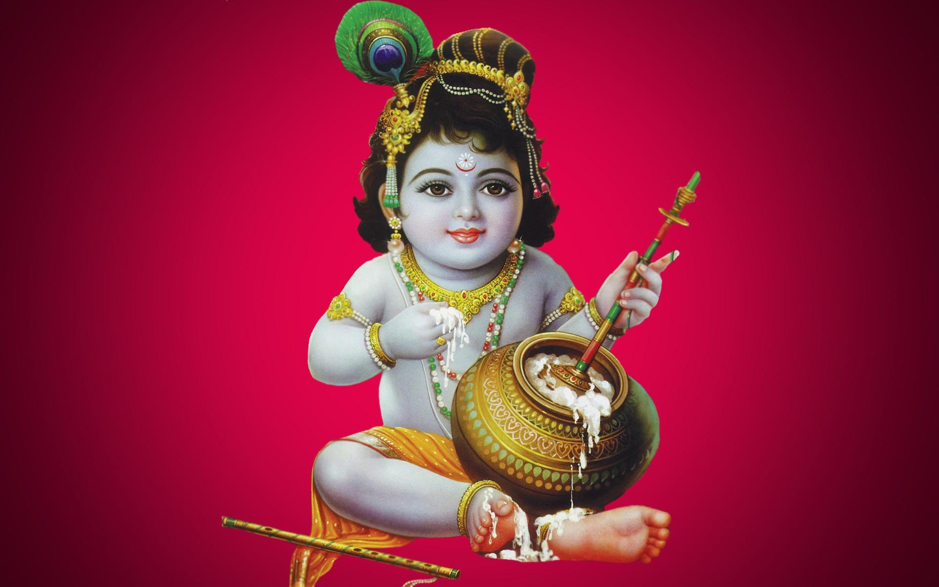 Krishna Bhagwan Hd Wallpaper Lord Krishna Eating Butter