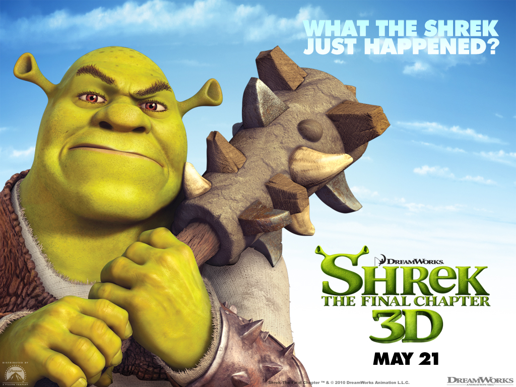 Shrek the Final Chapter Cartoon HD Wallpaper Image for iOS 7
