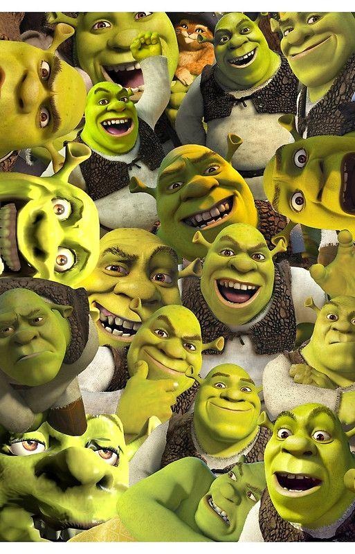Shrek Collage iPhone Case and Cover Shrek memes, Shrek