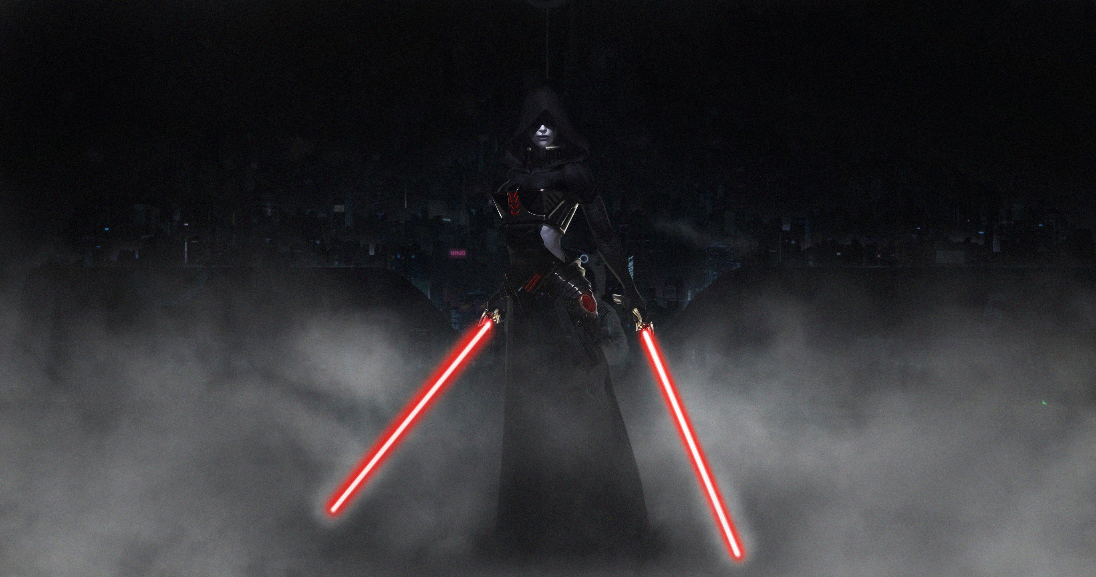Wallpaper Sith, Star Wars, ART, dark side 3000x2000