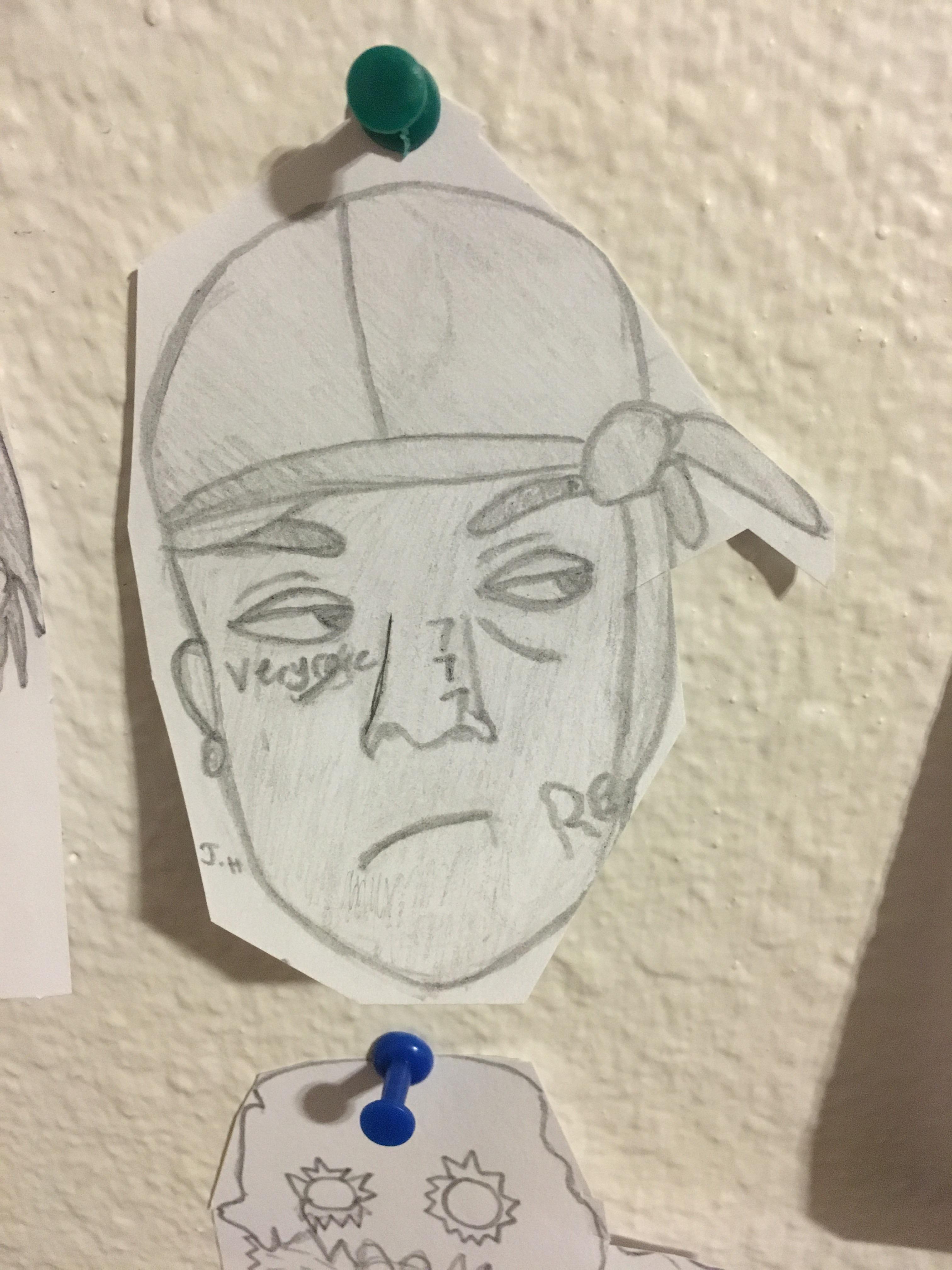 ski mask the slump god drawing