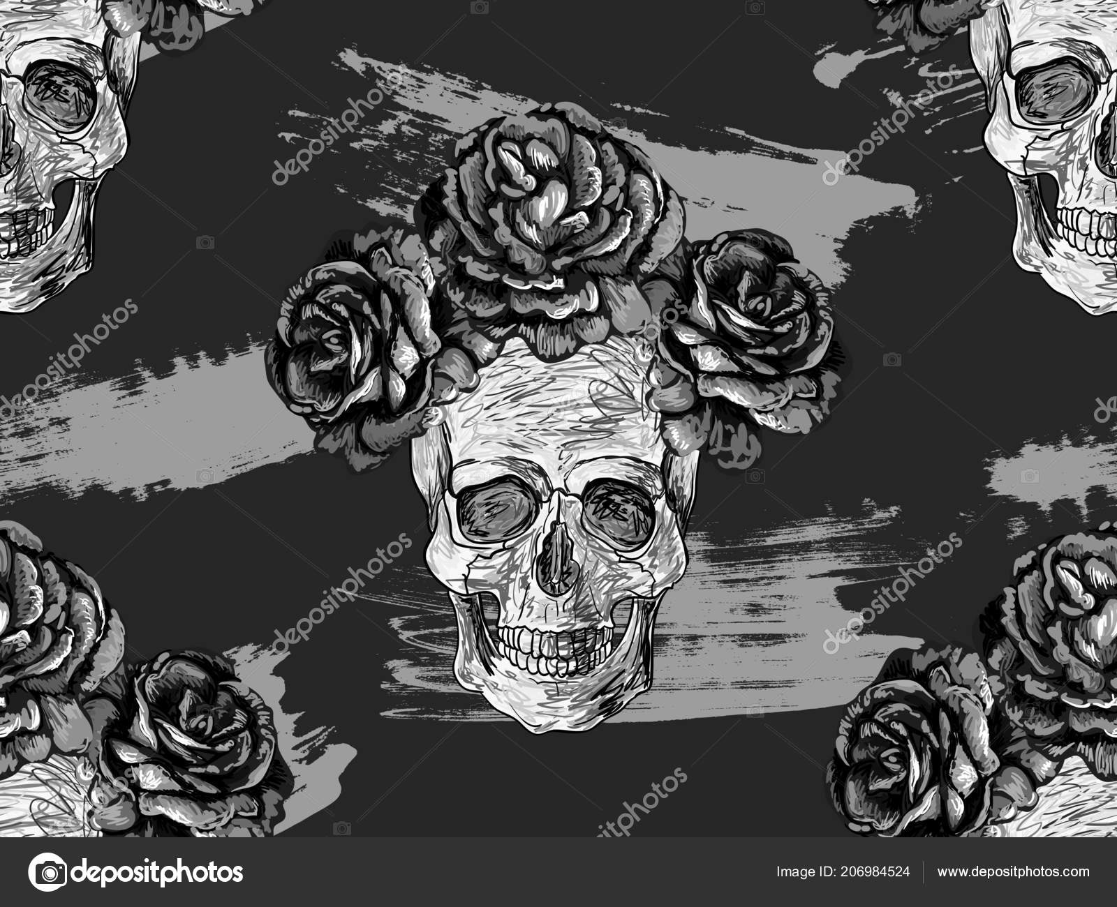 Skull With Roses Wallpaper Posted By Sarah Thompson