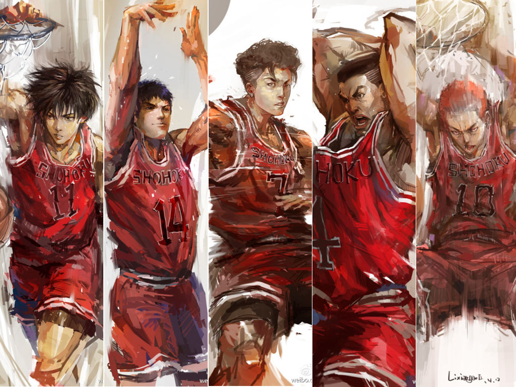 Slam Dunk Anime Wallpaper Hd Posted By Samantha Peltier