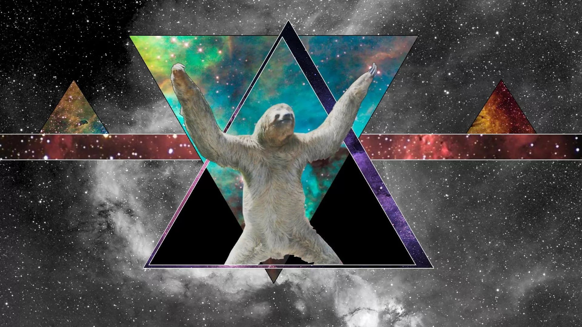 Sloth In Space Wallpaper Posted By Christopher Tremblay
