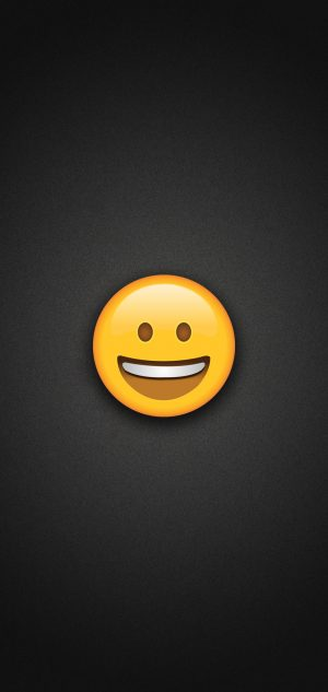 Smiling Face Emoji with Blushed Cheeks Phone Wallpaper