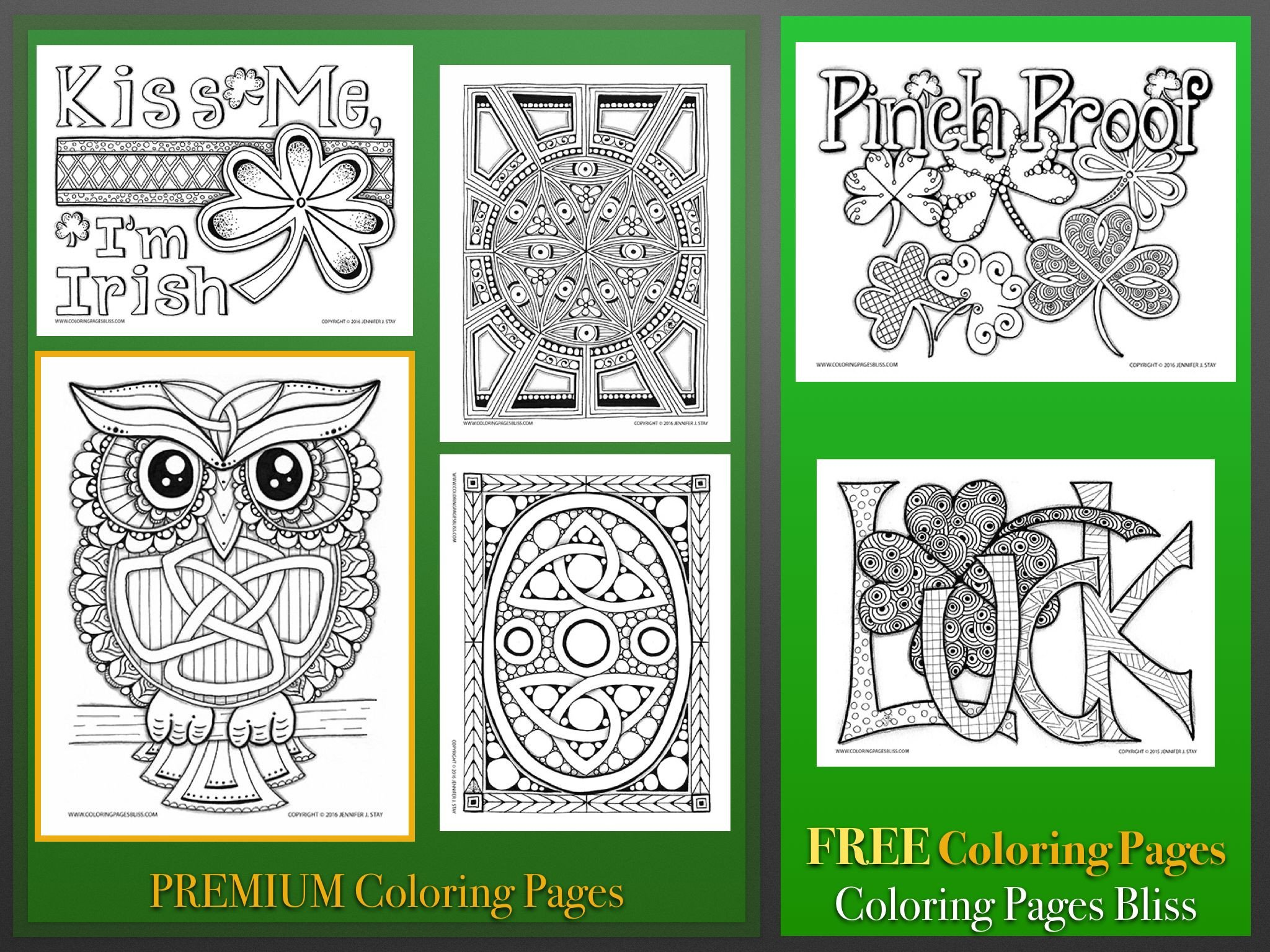 Free Printable St. Patrick's Day Coloring Pages - Oh My Creative   1536x2048