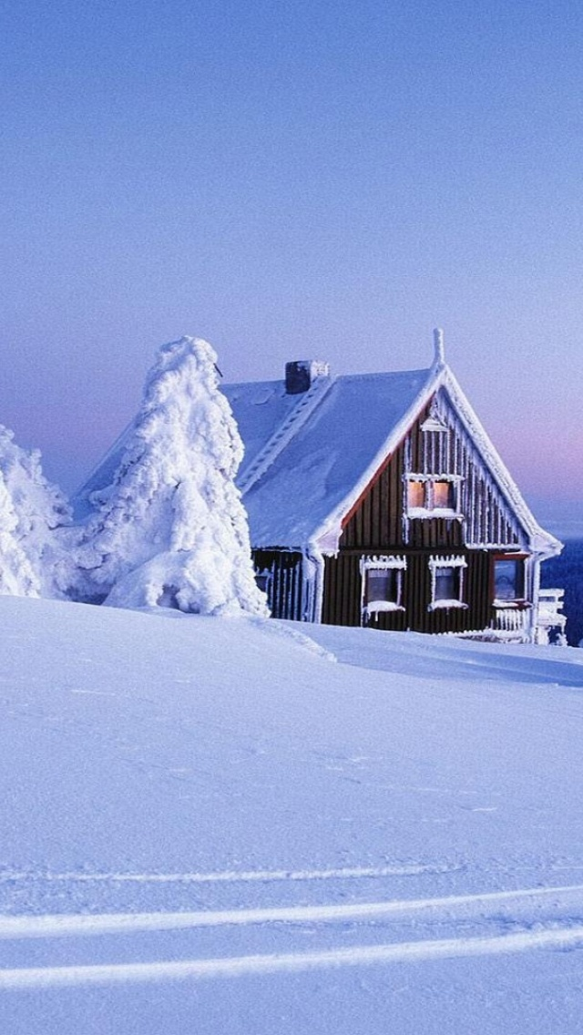 Snow Cabin Wallpaper Posted By Ryan Sellers