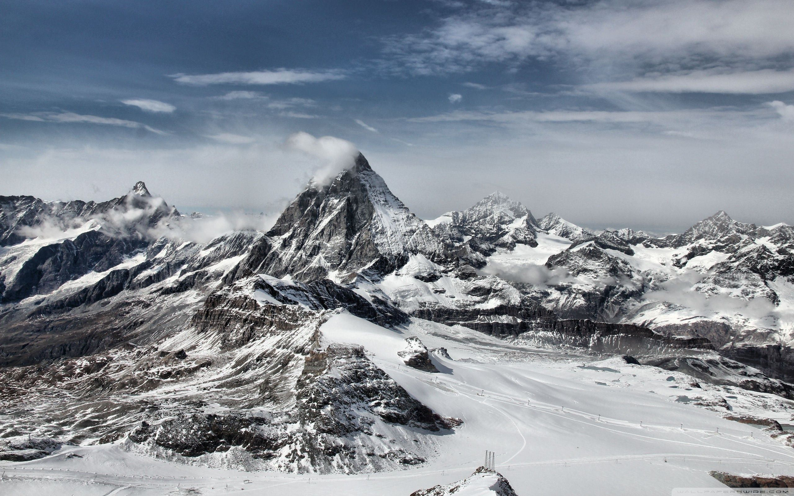 Snow Mountain Wallpaper Hd Posted By Michelle Cunningham