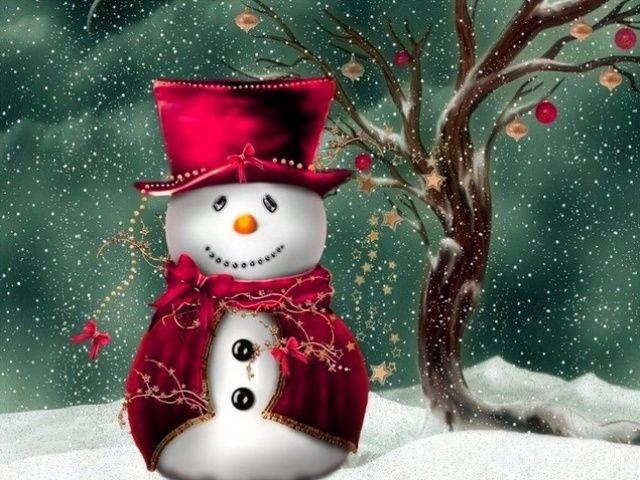 Christmas Screensavers free 640X480 Christmas snowman