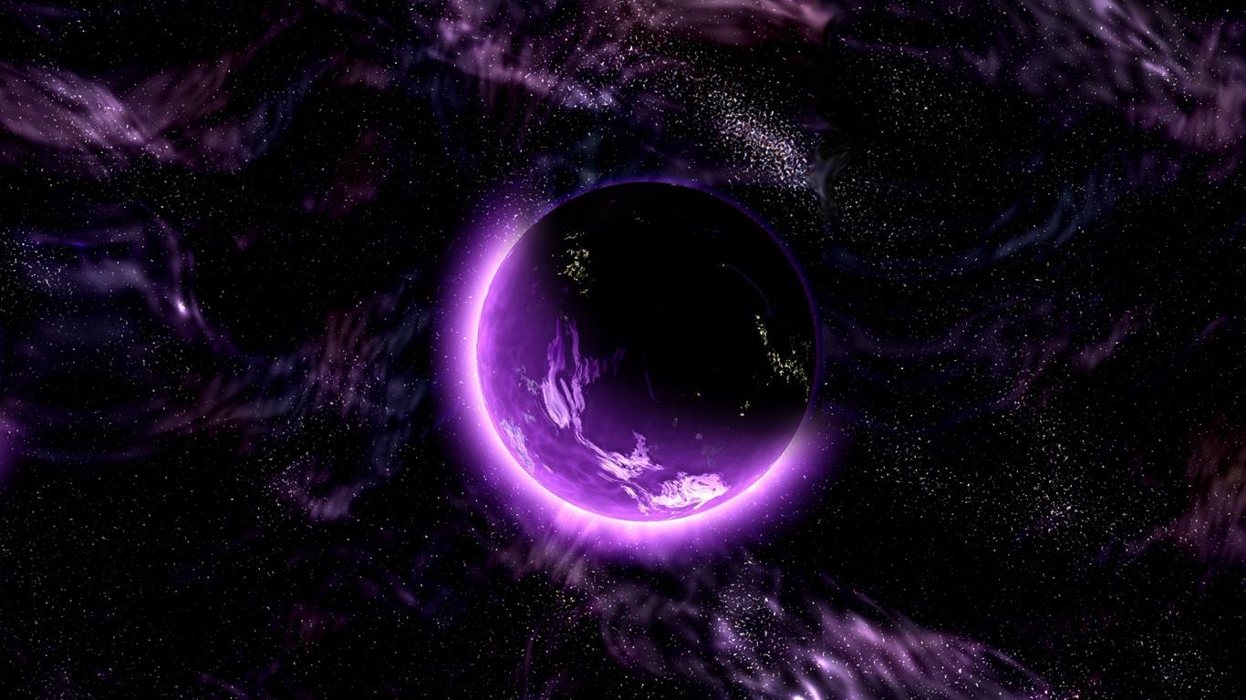 Download wallpaper 1366x768 planet, space, universe, galaxy