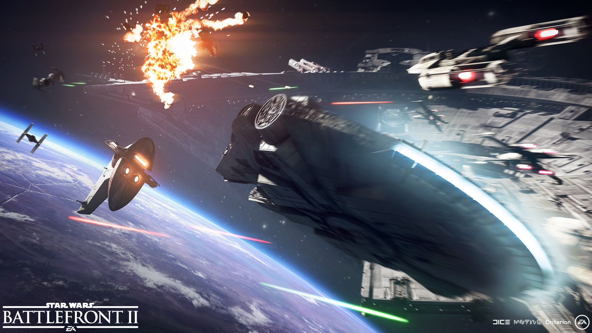 Star Wars Space Battle Wallpaper Star Wars Battlefront 2