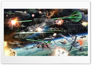 Res 300x212 px Star Wars Space Battle Wallpaper