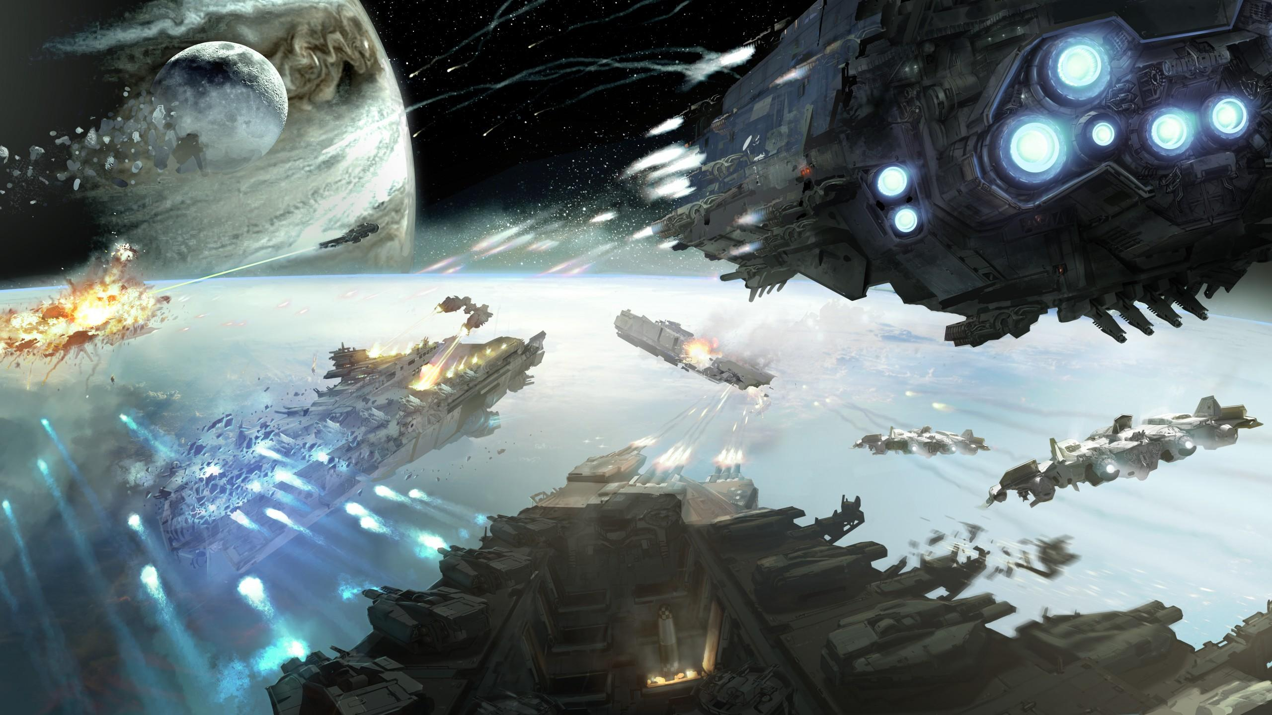 Space Battle Wallpapers Posted By Ryan Simpson