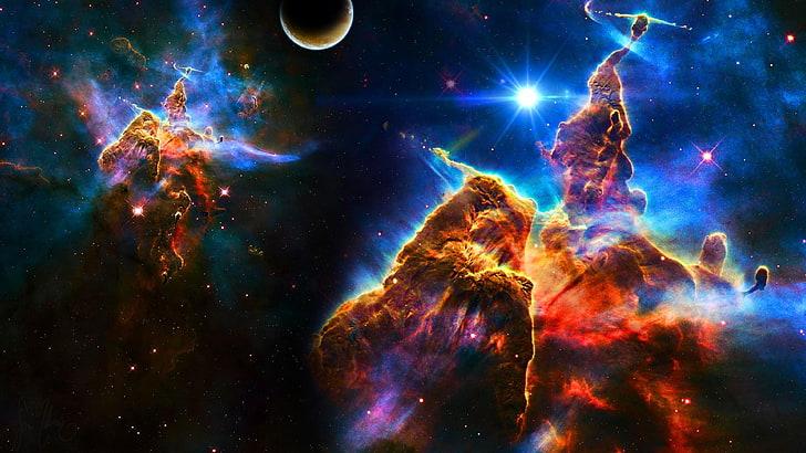 HD wallpaper nebula, space, galaxy, sky, universe, sturdust
